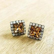 Sorrelli Square Cut Light Colorado TopazCrystal Post Earring - $48.51