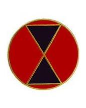 United States Army 7th Infantry Division Hat Lapel Pin - $9.89