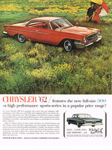 Vintage 1962 Magazine Ad Chrysler Features A High Performance Sports Series - $5.93