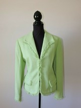 Sag Harbor Lime Green Blazer Jacket Career Work Professional Spring Summ... - $19.99
