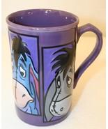 Winnie Pooh's Eeyore 3D 4-faces Purple Gray Blue Disney Store Coffee Cup... - $29.95
