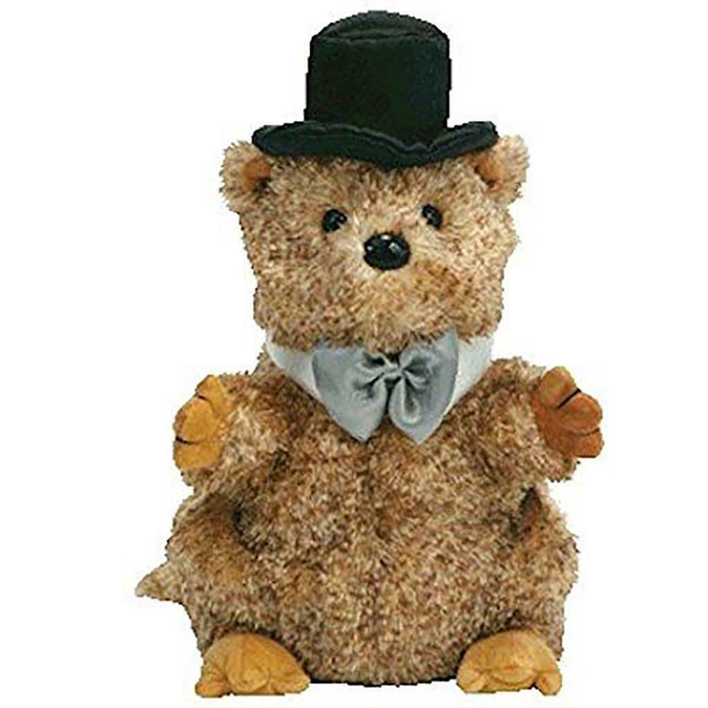 Punxsutawn-e Phil 2008 Groundhog Retired Ty Beanie Baby MWMT Collectible