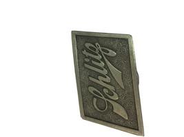 Vintage 1975 JOS SCHLITZ BEER Belt Buckle - Bergamont Brass Works - $13.98
