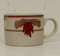 Vtg Art Meiwa-Table Art-coffee mug tea Cup red Chile Peppers Southwester... - $14.55