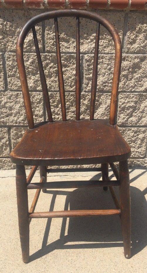 Brilliant Antique Primitive Tiger Striped Oak Wood And 50 Similar Items Short Links Chair Design For Home Short Linksinfo