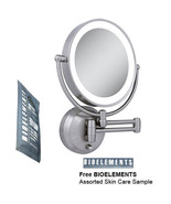 Zadro LEDW410 LED Lighted Wall Mounted Makeup Mirror w/ Free Bioelements... - $118.79