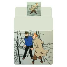 Tintin & Haddock single duvet cover set with square pillow image 3