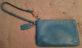 Teal Blue Coach Wristlet Wallet - $13.85