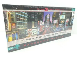 Times Square New York City 750 Piece Panoramic Jigsaw Puzzle Buffalo Gam... - $25.73