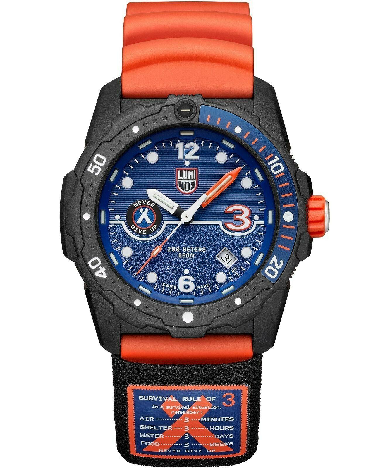Luminox Bear Grylls Survival Watch, CARBONOX™, Blue, 42 mm, 20 atm, XB.3723.R3
