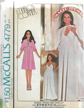 Vintage McCall's Carefree Pattern #4779-Marlo Thomas-Misses Dress & Cape... - $9.46