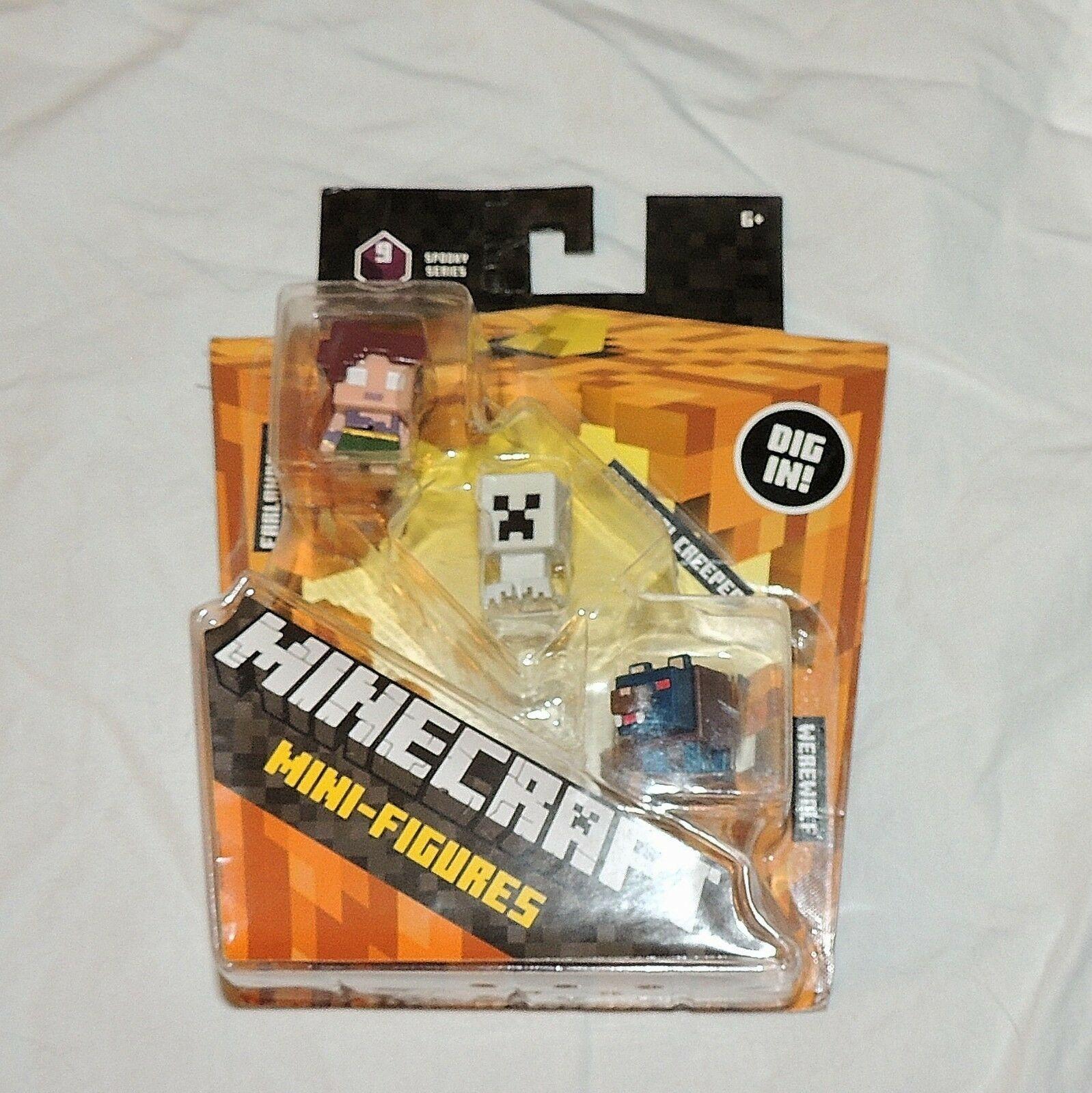 Nuevo Minecraft Minifigura Spooky Serie 9 Hombre Lobo Spectral Creeper Farlander