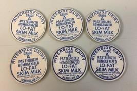 6 Vtg Milk Bottle Caps Riverside Dairy Chamberlain South Dakota Lo-Fat S... - $29.69