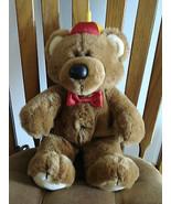 DAKIN FUN FARM TEDDY BEAR 1985 VTG 16 inch Plush STUFFED ANIMAL Toy - $24.70