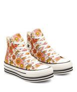 Converse Womens CTAS Layer Bottom Hi 568004C Egret/Vermilion Red NWB - $68.12