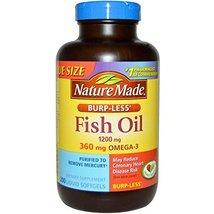 Nature Made Burp-Less Fish Oil 1200mg, 360mg Omega-3, Liquid Softgels 200 ea (Pa - $59.19