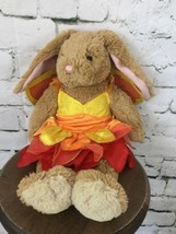 "Build A Bear Bunny Rabbit In Tutu Outfit Light Brown Pink 17"" - $21.78"