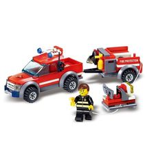 Fire Trucks Model Series Building Blocks Brinquedos Educational Toys Bri... - $7.92