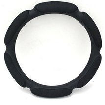 PANDA SUPERSTORE Simple Design Cool Steering Wheel Cover,Black