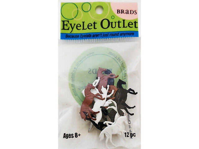 Eyelet Outlet Horse Brads, 3 Colors, 12 Count