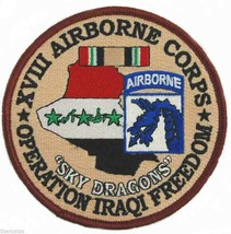 """Army 18TH Airborne Sky Dragons Oif Operation Iraqi Freedom 4"""" Embroidered Patch - $18.04"""