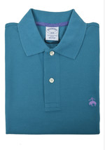 Brooks Brothers Mens Teal Blue Green Slim Fit Pique Polo Shirt 2XL XXL 3853-6 - $59.39