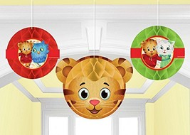 Amscan 291768 Honeycomb Decoration Daniel Tiger's Neighborhood® 3 pcs Party Acce - $8.86