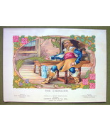 CAVALIER of Middle Ages - 1911 COLOR Litho Print - $5.74