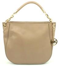 Michael Kors Hobo Shoulder Bag Dark Taupe Beige Stanthorpe Leather Medium - $355.89