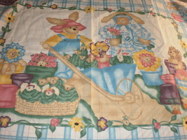 Garden Bears Quilt Panel 1998 Daisy Kingdom past & presents fabric  - $19.95