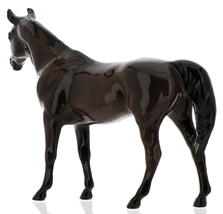 "Hagen-Renaker Miniature Ceramic Horse Figurine Thoroughbred ""Citation"" image 7"