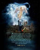 ANGELS & SHEPHERDS - LED Flameless Devotion Prayer Candle image 2