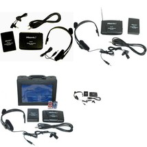 Vhf Stage Wireless Headset Microphone System Mic Fm Transmitter Receiver... - $18.91