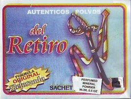 Indio Authentic Del Retiro Sachet Powder  1/2 oz. Brujeria Witchcraft - $7.75