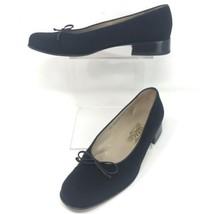 Salvatore Ferragamo Women 8.5 AA VTG Black Felt Block Heels ITALY Made - $39.55