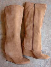 JESSICA SIMPSON Rallie Suede Leather Knee High Wedge Heel Boots - Women'... - $55.17