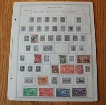 A48 Lot of New Zealand Stamps on 9 Minkus binder Pages - $198.00