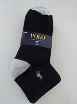 Ralph Lauren Polo Boy's 3 pair Quarter Crew Socks 9-11 Shoe 4-10 New - $9.89