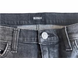Faded Black/Gray Distressed Women Hudson Denim Mini Short Jean Skirt Sz 25 image 2