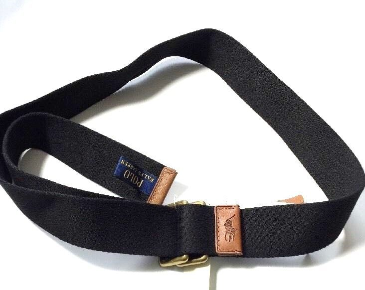Ralph Lauren Mens Nylon Black Belt Size Medium RRP £65