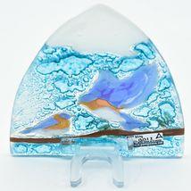 Handmade Fused Art Glass Bluebirds Blue Birds Nightlight Night Light Ecuador image 4