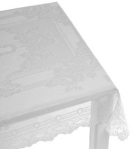 "Sharon Jacquard Knitted Lace Floral Tablecloth, White, 70"" round, by Lor... - €16,14 EUR"
