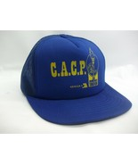 CACP Special Olympic Law Enforcement Torch Run Hat VTG Blue Snapback Trucker Cap - $16.55