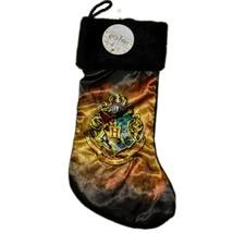 "Kurt Adler Harry Potter Hogwarts Crest 19"" Christmas Stocking w Fuzzy Pl... - $15.83"
