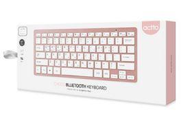 Actto Korean English Bluetooth Slim Keyboard Wireless Compact Tenkeyless (Pink) image 5