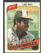 Baltimore Orioles Lee May 1980 Topps Baseball Card 490 nr mt - $0.99