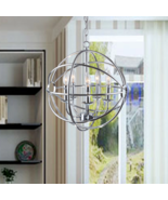 Hanging Pendant Chrome Light Fixture Kitchen Island Ceiling Globe Orb Ro... - $191.97