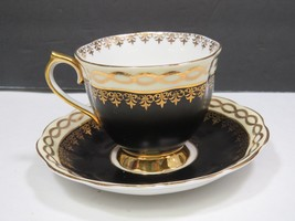 Vintage Royal Albert Black Gold Tea Cup & Saucer - $29.70