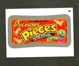 """2014 Wacky Packages Series 1 """"DECEASE'S PIECES"""" #48 Silver Sticker Card - $1.99"""