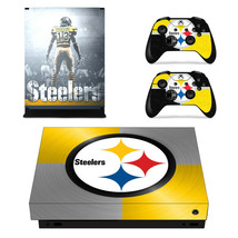 Xbox One X Console Skins Vinyl Decals Sticker NFL Pittsburgh Steelers Cover Wrap - $11.09